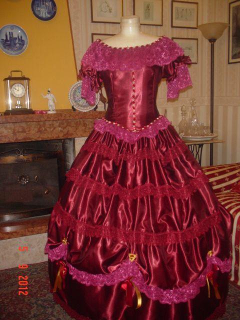 Abiti costumi storici femminili 1800 abito da ballo femminile 1850 1860 abiti da sera - Costumi da bagno femminili ...