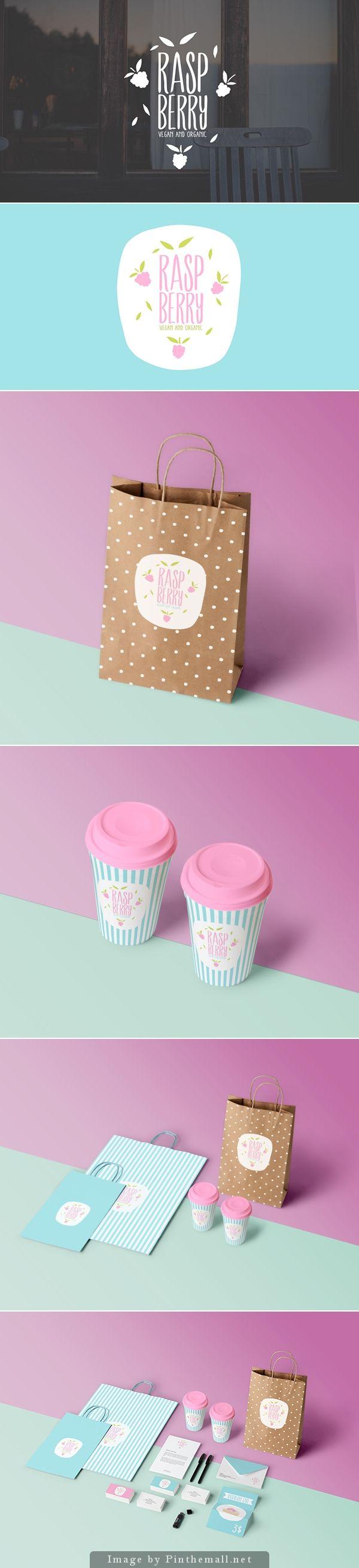 Raspberry, vegan and organic #packaging #design