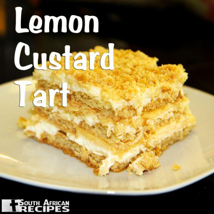 Traditional South African Recipes LEMON CUSTARD TART (Wenresepte 2000, pg 123)..., ,