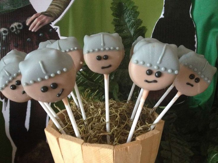 Cookie pops at a How to train your dragon birthday party! See more party planning ideas at CatchMyParty.com!