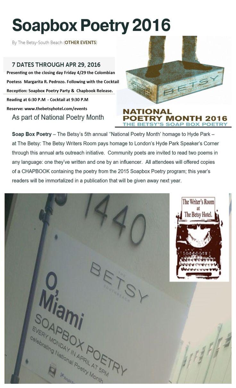 #NationalPoetryMonth2016 #OMimai ##SoapboxPoetry