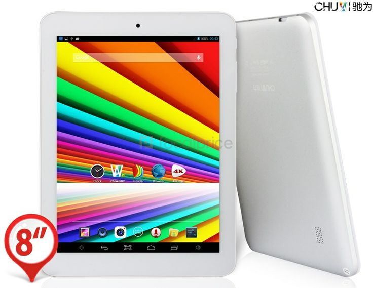 """CHUWI V8S Quad Core 8.0"""" Capacitive G+G Touch Screen 1024x768 Android 4.2.2 Quad Core A31S 1.2GHz Tablet PC with Wi-Fi, HDMI (16GB) (Silver)..."""