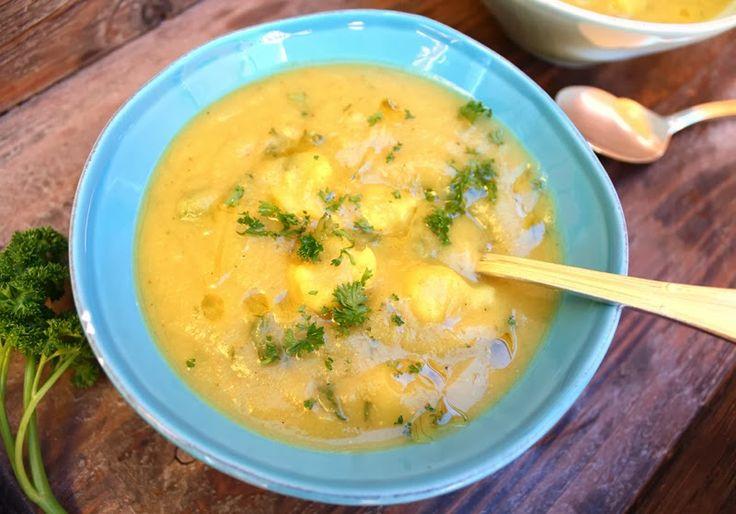Oppskrift Hjemmelaget Blomkålsuppe Krydret Indiske Krydder Blomkål Suppe