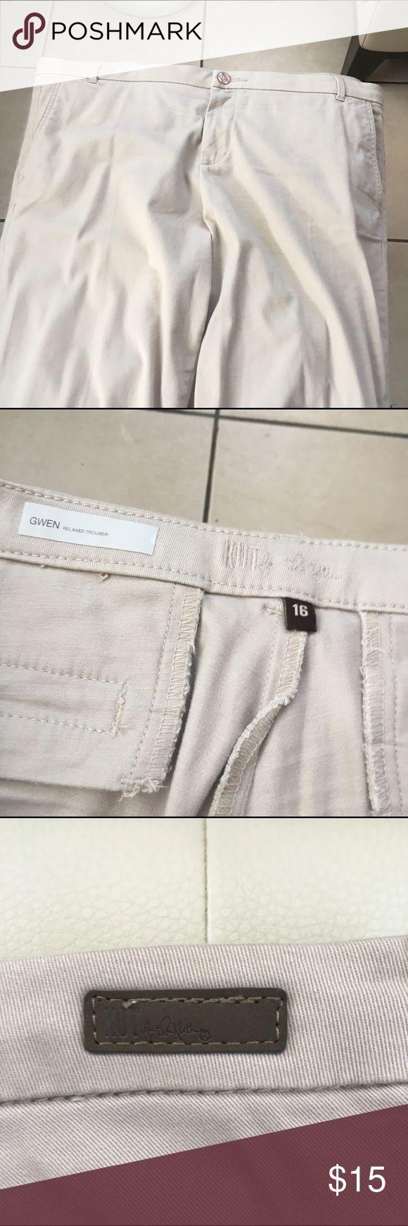 ( SOLD )Women khaki pant Women casual khaki pant, size 16 , like new, excellent condition Pants Boot Cut & Flare