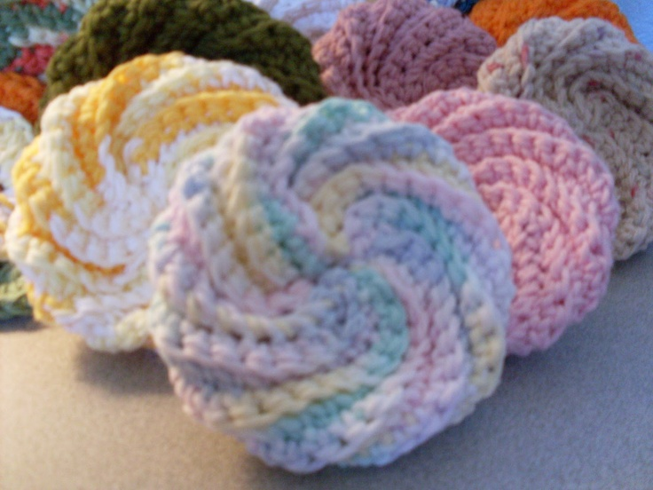 Cathartic Crafting - New post up w/free tutorial for a spiral scrubby.
