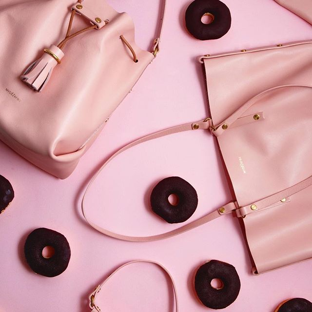 The new pink is now up in our online store (link in bio) ✨ it's a soft smooth leather in a medium shade of pink which we have named '1983'. #new#pink#assembled#accessories