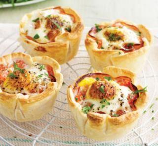 Ham and egg mini pies | Australian Healthy Food Guide