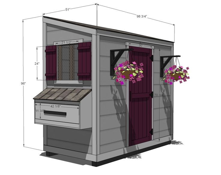 Ana White   Build a Shed Chicken Coop   Free and Easy DIY Project and Furniture Plans