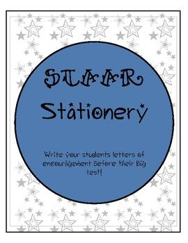 Write notes of encouragement to your students or children as the prep for the upcoming STAAR test!This is a pack of 5 different stationery.