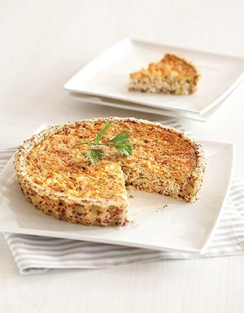 Quiche de quinoa com frango (base saudável)