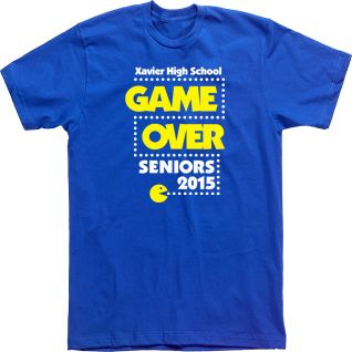 xavier high school game over  seniors pacman T-shirts Custom Tees