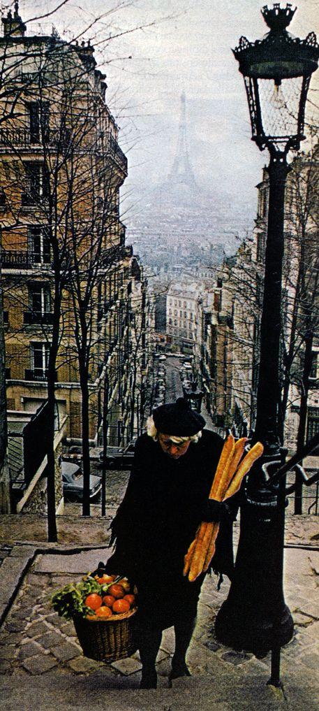 du haut du quartier Montmartre à Paris