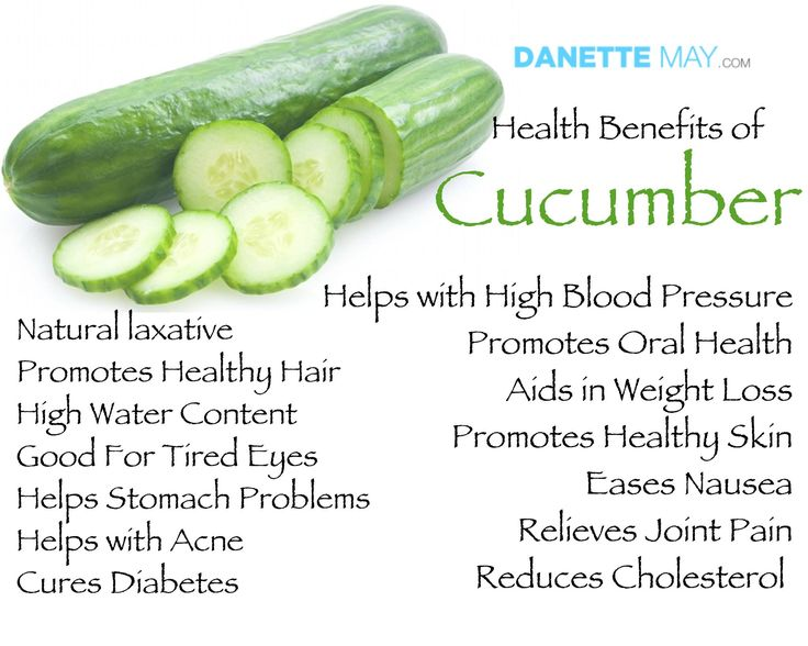 I love cucumbers! They help you body in so many ways!