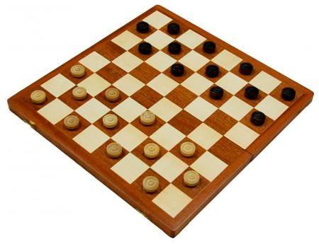 Arsstar Шашки 'турнирные' (польша, дерево, 42х21х5 см)  — 2890 руб.  —  Дерево, наборная доска Полиграфическая упаковка Шахматы являются уникальной игрой – с одной стороны – здесь приходится задумываться о последующих ходах, стараться предугадывать возможные передвижения соперника, с другой же – можно просто расслабиться и играть просто ради удовольствия. Шашки достаточно древняя игра и поэтому имеет свою богатую историю. В данном варианте доска изготовлена из дерева, со специальным…