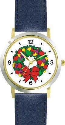 Christmas Wreath No.1 Christmas Theme - WATCHBUDDY® DELUXE TWO-TONE THEME WATCH - Arabic Numbers - Blue Leather Strap-Children's Size-Small ( Boy's Size & Girl's Size ) WatchBuddy. $49.95. Save 38%!
