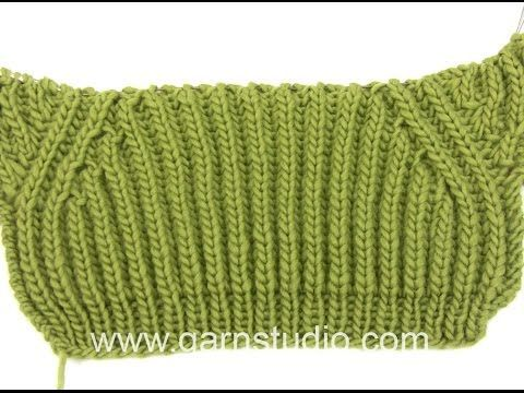 How to knit the false raglan in DROPS Extra 0-898 - YouTube