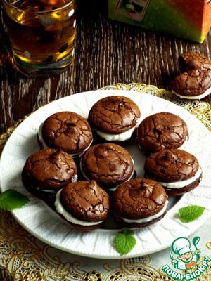 """Печенье """"Брауни"""" с творожной прослойкой Шоколад темный (не меньше 65 %) —…"""