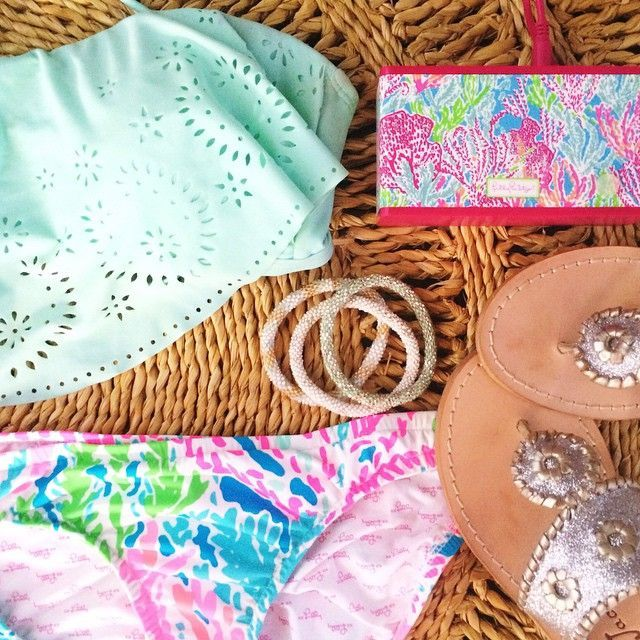 top: target bottoms: lilly pulitzer shoes: jack rogers bracelets: lily & laura