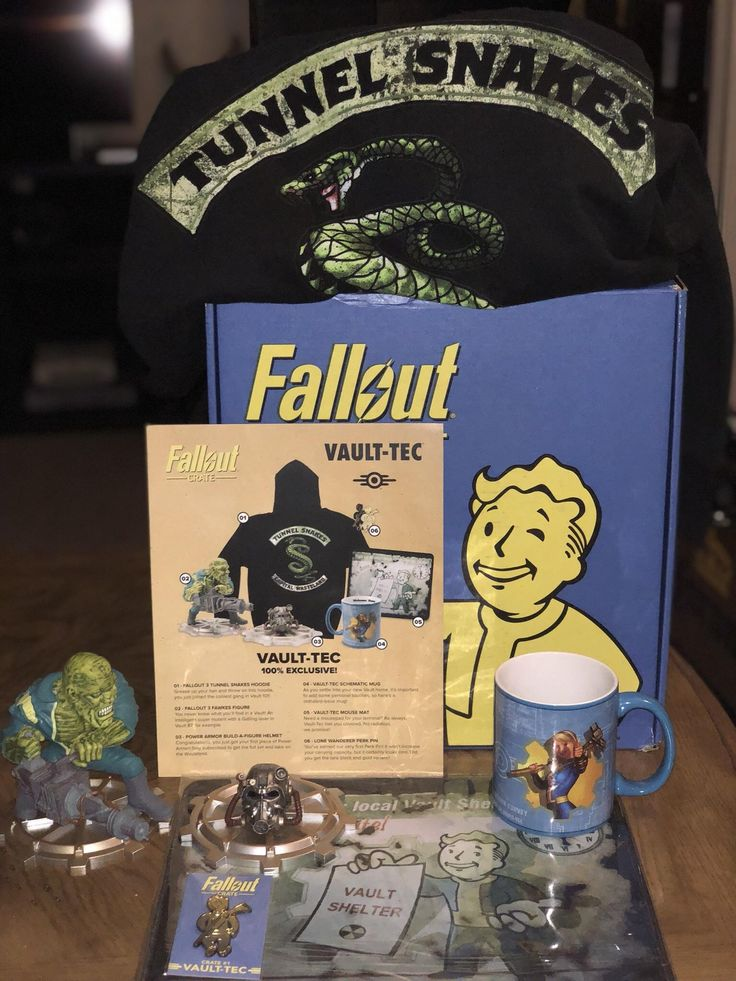 fallout loot crate came in today tunnel snakes rule!