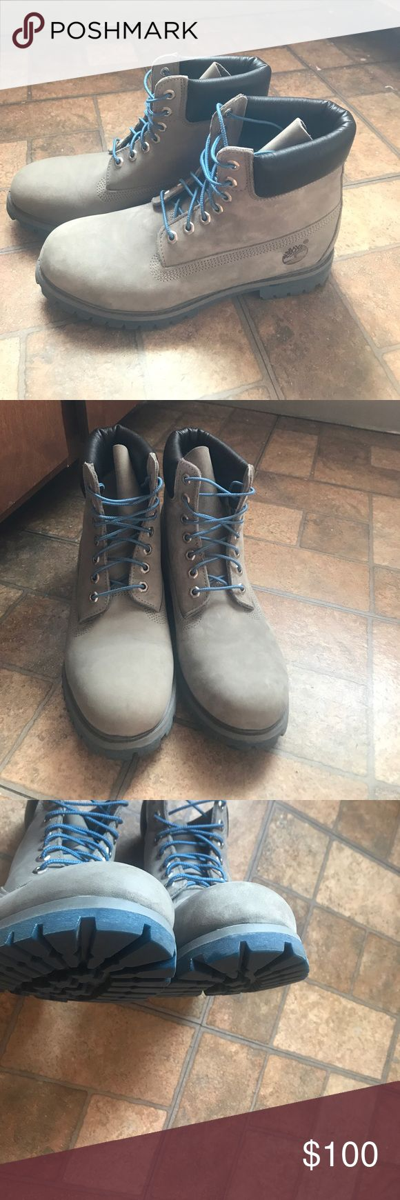 Timberland boots Gray timberland boots in perfect condition. Worn twice. Men's size  9.5 Timberland Shoes Boots