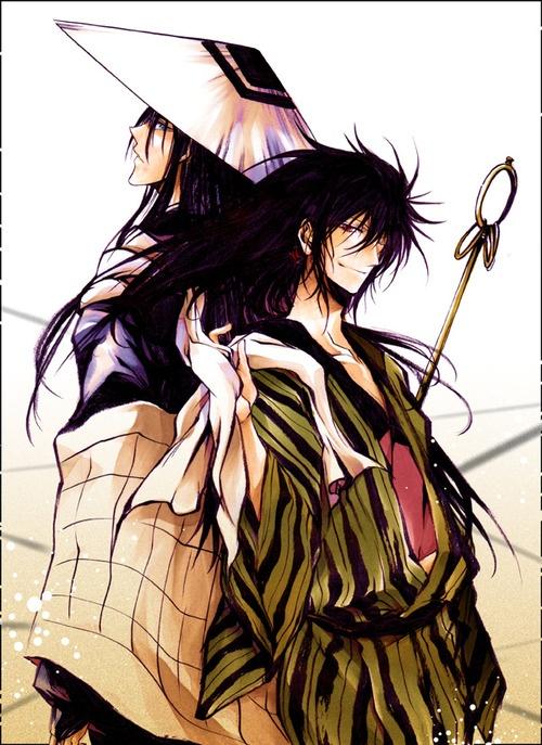 Kurotabo and Rihan Nura from Nurarihyon no Mago / Nura