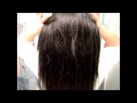 how to cut my own long hair straight across