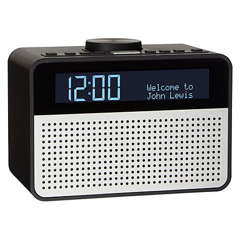 Buy John Lewis Astro DAB+/FM Digital Clock Radio with Alarm & LCD Display Online at johnlewis.com