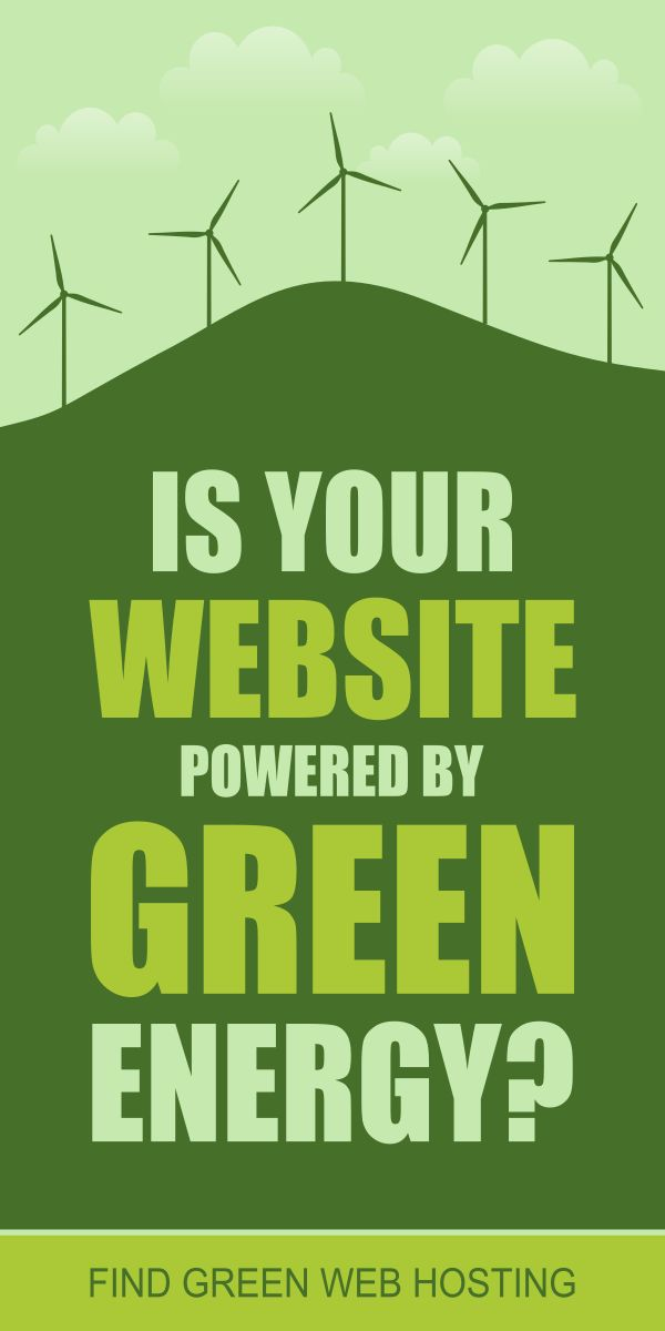 Is your website powered by green energy? Find green web hosting companies that offer great service powered by clean renewable Eco-friendly energy. A website powered by green energy provides substantial benefits for our climate, environment, health, and our economy. More webhosting companies choose to use renewable energy such as wind and solar energy to power their services. They provide WordPress Hosting, Dedicated Hosting, VPS Hosting, Reseller Hosting and more at very reasonable prices.