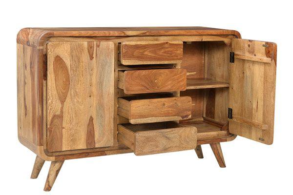 Oslo ART4819 2 Door 4 Drawer Sheesham Wood Sideboard - Furniture Connexion