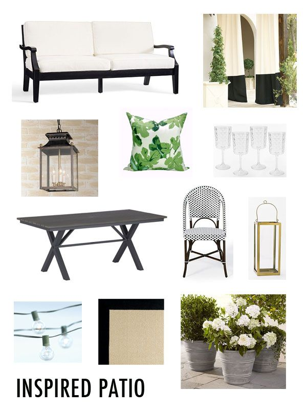 Patio inspired by Gramercy Park Hotel