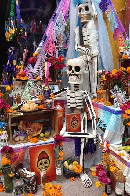 4. Celebrate Dia De Los Muertos In Mexico This holiday may seem somber and serious, but in Riviera Maya, the November 1 celebration extends past the graveyard and into the streets and parks with colorful decorations, festive music, and amazing food (try the pan de muerto dipped in Mexican hot chocolate). The tradition of honoring the dead with candles, food, and music takes place all ...