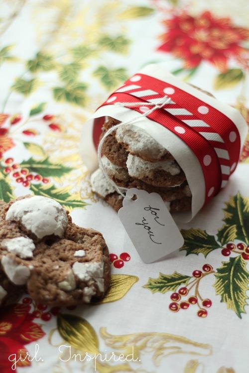 Mint Snowtop Cookies