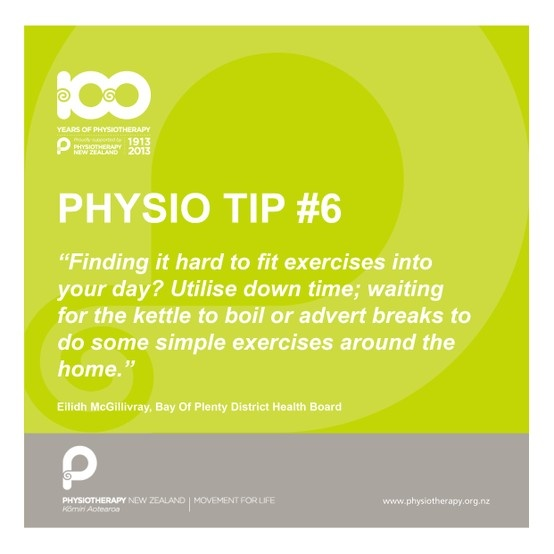 Utilise your down time for exercising #physiotips #100years