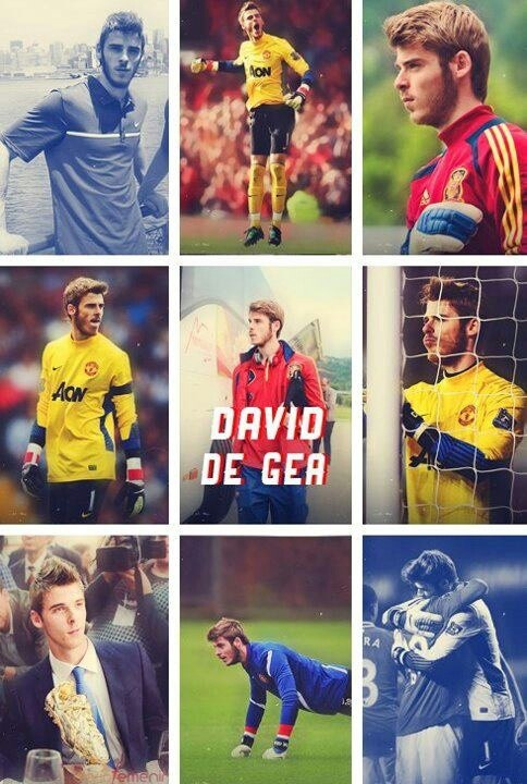 Manchester United - David De Gea Quintana Goalkeeper *_* <3 1st reason y i love manchester united= CUTE BOYS!! :P and awesome players! B|
