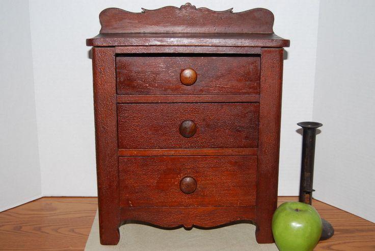 Antique Primitive Painted Child S Miniature Dresser: 93 Best Images About Antique Toy Dressers/Cupboards/Doll
