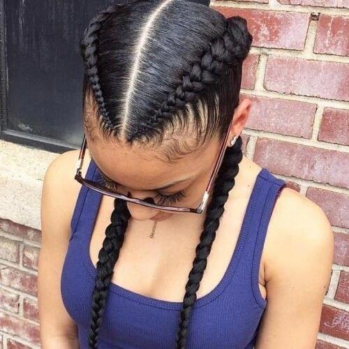 box braid hairstyles Colour #africanbraids #boxerb…