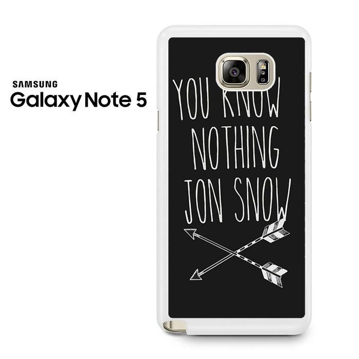You Know Nothing Jon Snow Arrows Samsung Galaxy Note 5 Case