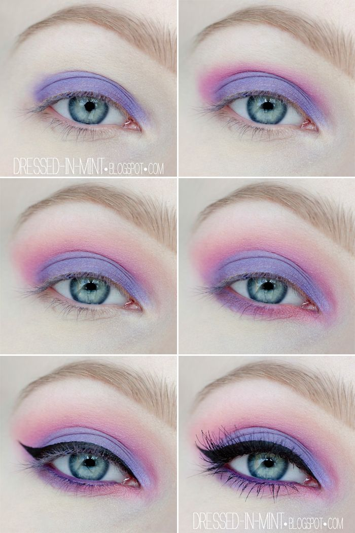 Dressed in Mint: make up. - Purple in Pink / step by step/ Maquillaje en tonos morados y rosas para quien su alma sea igual de colorida.