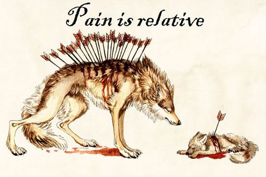 Pain is relative. Ehh the feels, yet I can't not pin this..