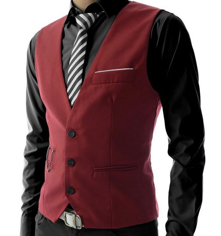 Victory Weight: Mens Slim Fit 3 Button Vest