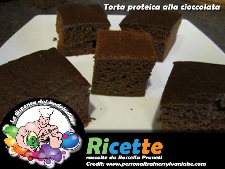 Torta proteica alla cioccolata