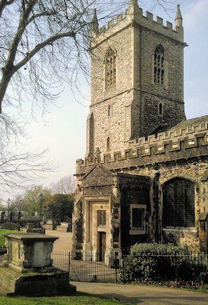 St Dunstan's Church, Stepney, copyright Marathon, made available under the Attribution-ShareAlike 2.0 Generic Licence