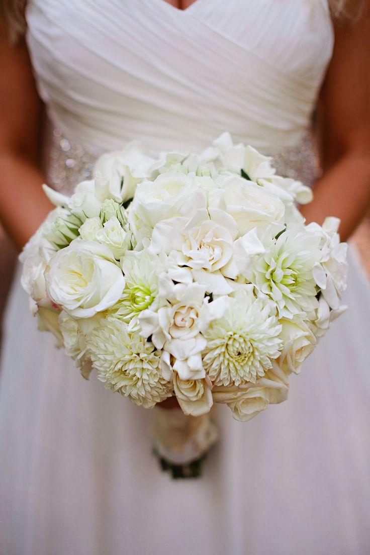 White Rose and Gardenia Bridal Bouquet