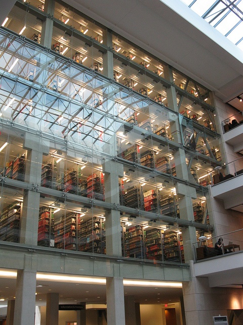 Ohio State University - Thompson Library. I've been in this library and it's breathtaking! The higher up you go, the quieter it gets :)