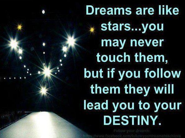 Dreams Quote #Destiny, #Stars
