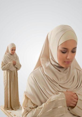 ISLAMIC ATTIRE FOR WOMEN, PRACTICAL ONE PIECE PRAYER DRESS, EASY TO WEAR, HIJAB