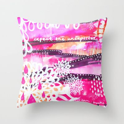 Unexpected Throw Pillow by Stina Glaas - $20.00