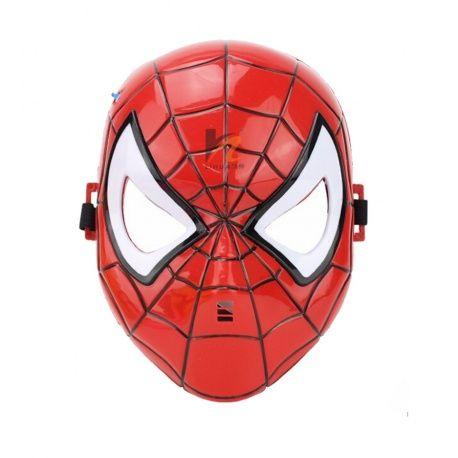 Spiderman Masker (met LED licht) Ben je op zoek naar iets leuks om aan te doen met Carnavalof gewoon voor de lol? Wat dacht je van dit levensechteSpiderman masker met verlichte ogen (LED verlichting). Met het elastiek aan de achterzijde verander je zo in deze wereldberoemde superheld.(let op, dit is een kindermasker, niet geschikt voor volwassen).