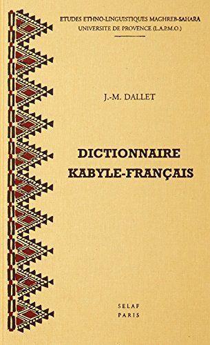 USED (GD) Dictionnaire kabyle-francais. Parler des Ait Mangellat (Algerie). MS1
