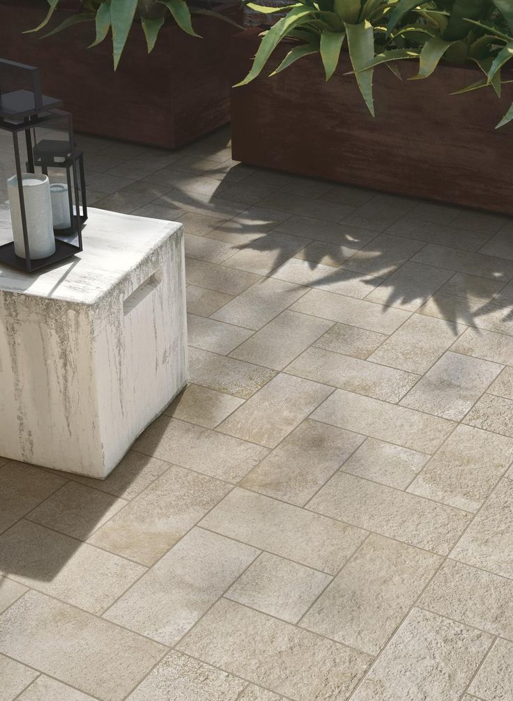 Lovely interior and exterior tiles from the Stoneway Porfido Collection.  #tiles #patio #interior
